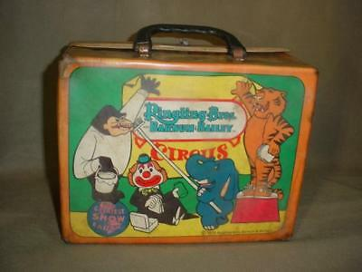 VINTAGE 1970 Ringling Brothers Barnum Bailey THERMOS Lunch Box