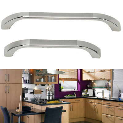"Bowed Door Pull Handles Polished Chrome Kitchen Cupboard Cabinet Drawer 3.8""/5"""