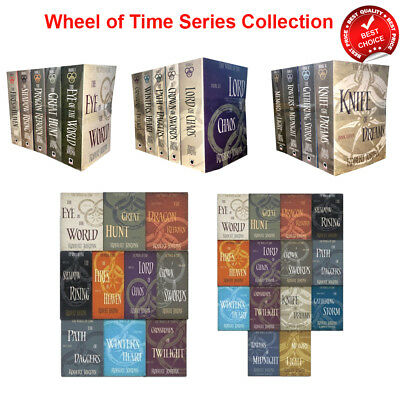 Wheel of Time Series 1 2 3 Collection Robert Jordan Books Set Pack(Book 1-14)