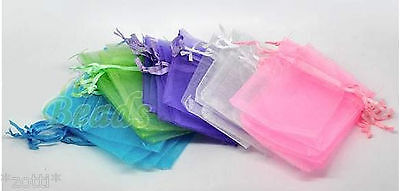 5 Organza Pouch Jewellery Bags Packaging Approx. 9cm x 7cm Bag Cloth Bag #
