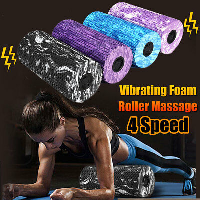 Electric Foam Roller Exercise Physio Pilate Yoga Muscle Massage Trigger Point AU