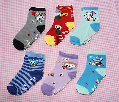 #F8, Small Wholesale 12 PCs/6 Pairs Cotton Baby Socks For Baby Toddler 12-24 M