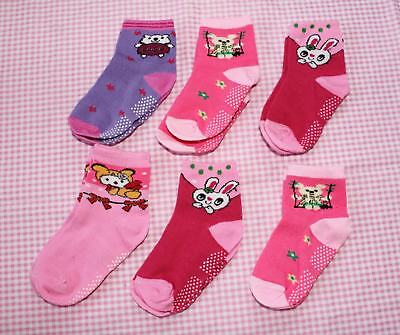 #F10, Small Wholesale 12 PCs/6 Pairs Cotton Baby Socks For Baby Toddler 12-24 M