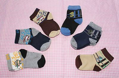 #F14, Small Wholesale 12 PCs/6 Pairs Cotton Baby Socks For Baby New Born 0-12 M