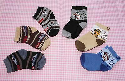 #F12, Small Wholesale 12 PCs/6 Pairs Cotton Baby Socks For Baby New Born 0-12 M