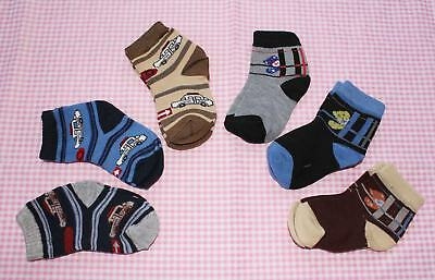#F13, Small Wholesale 12 PCs/6 Pairs Cotton Baby Socks For Baby New Born 0-12 M