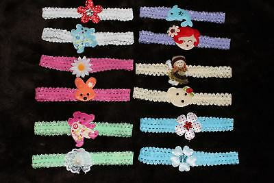 #F4 Wholesale Lots 12 Pieces New Very Cute Baby Headband
