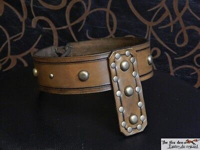 Heavy leather customizable barbarian crown, Conan the barbarian inspired! LARP!