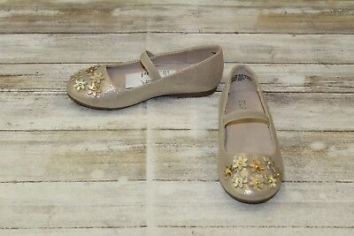 **The Children's Place Gold Flower Ballet Flats, Girl's - Choose Your Size