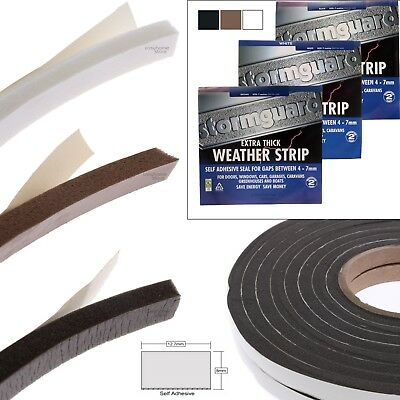 Stormguard Extra Thick Rubber Foam Door Draught Excluder Seal large gaps x 3.5m