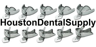 10 Dental Impression Trays SOLID Stainless Steel METAL Autoclavable