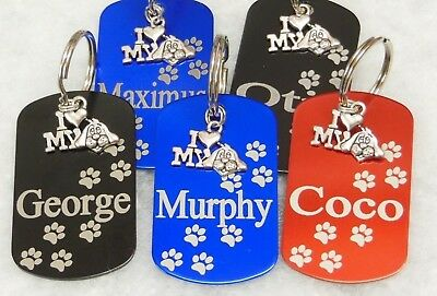 Puppy Id Tag. Dog Tag. Us Style Id Name Tag Disc Personalised Pet Identity Tags