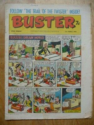 Vintage Buster Comic 21st March, 1970 - Buster's Dream-World Cover Strip