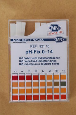 pH-fix test strips 0-14 Macherey-Nagel 100 color-fixed indicator strips 921-10