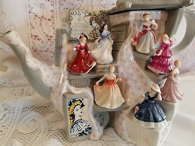 Royal Doulton Paul Cardew Lg Tiny Pretty Ladies Market Stall Teapot Le 1652/2002