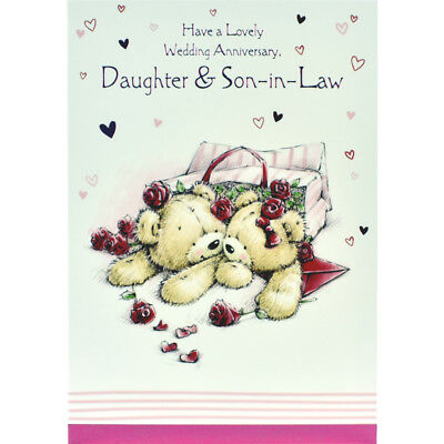 Wedding anniversary card daughter and son in law happy greeting wedding anniversary card daughter and son in law happy greeting card m4hsunfo