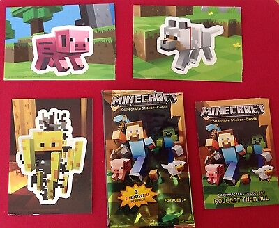 Minecraft Collectible Sticker-cards - Defective Pack
