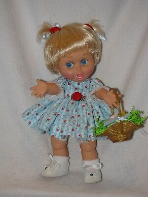 "13"" Galoob ""So Surprise Suzie"" #2 Baby Face Doll Dressed In Blue"