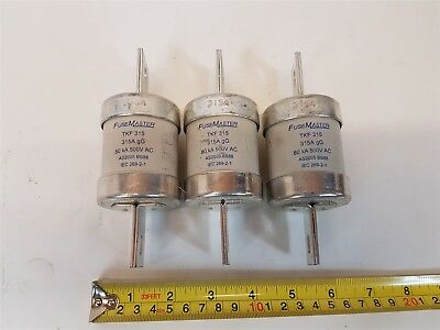 FuseMaster TKF315 Fuse 315A gG 80kA 500VAC AS2005 BS88 - Qty 3 - New