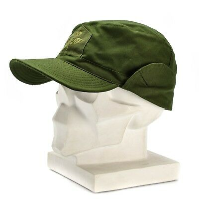 Genuine Swedish army ear flap cap Sweden M59 field combat military hat issue
