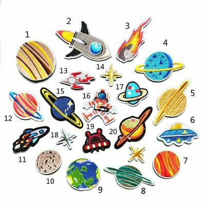 20pcs/Set Embroidery Patches Outer Space Planet Pattern Sew On Patches Iron On P