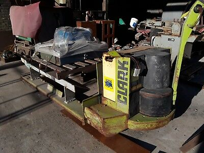 Clark Model P40F Electric Pallet Jack 4000Lb, Wall Panel & Charging System