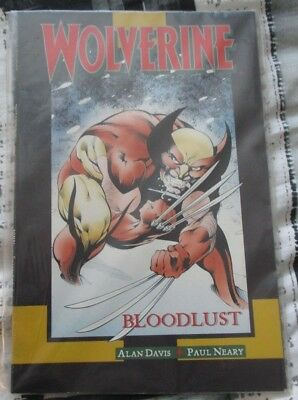 Used Condition MARVEL Comics Wolverine Bloodlust Graphic Novel 1990