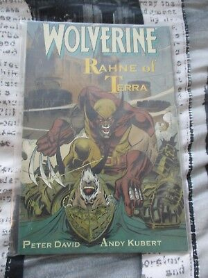 Used Condition MARVEL Comics Wolverine Rahne Of Terra Graphic Novel 1991