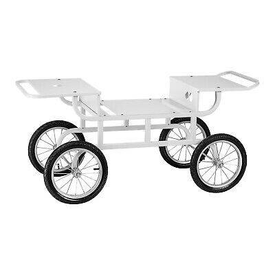 Candy Floss Wagon Cart Cotton Candy Trolley Carriage Mobile Four Wheels Steel