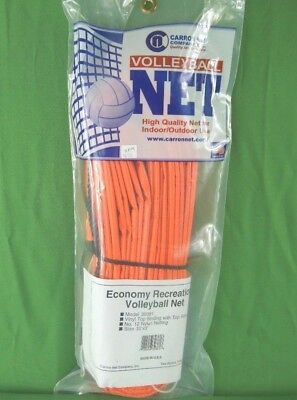 Carron Volleyball Net Model 30381, Vinyl Top, Nylon Netting, Ropes, 32' x 3'