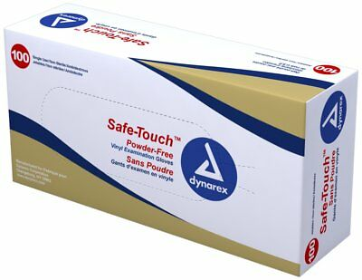 SafeTouch Nitrile Exam Gloves, Non-Latex, Powder Free,x- Large, Blue 100 per