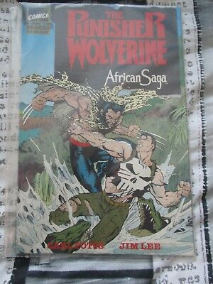 VGC Marvel Comics The Punisher Wolverine African Saga Graphic Novel 1988/1989