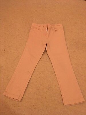 Girls Pink/peach Jeans From Next Age 4