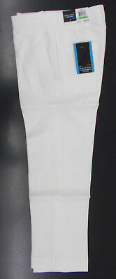 Boys Nautica $42.50 White Linen Blend Flat Front Dress Pants Size 8 - 18