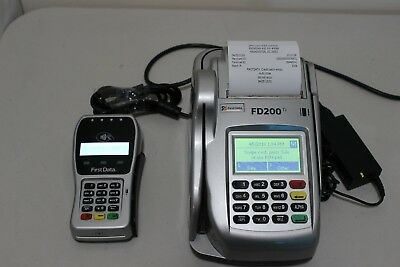 First Data FD200ti FD-200TI Credit Card Terminal with FD-35 PIN pad Power Supply