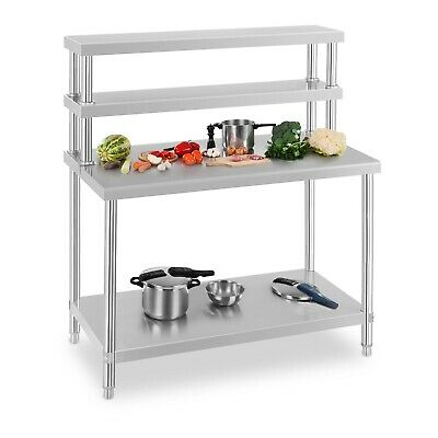Work Table With Overshelf Stainless Steel Catering Table Kitchen Cooking Table