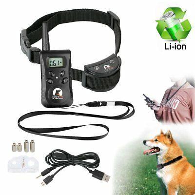 Dog Shock Training Collar Waterproof Rechargeable Remote 500 Yard Electric LCD