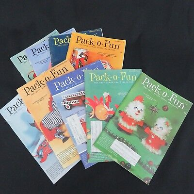 Pack o Fun Magazine Scrap Craft 1973 Lot of 9 Issues Christmas Valentine Easter