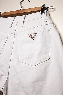 Vintage GUESS Mom JEANS 80's White TAPERED LEG MADE in Canada 30X28 high waist