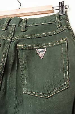 Vintage GUESS Mom JEANS 80's Green TAPERED LEG MADE in Canada 29X31 high waist