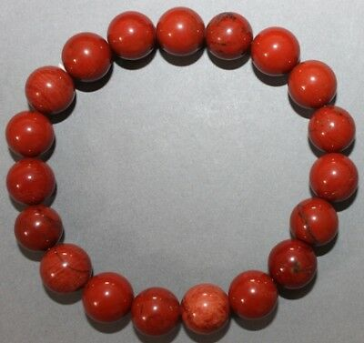 "Bracelet Jaspe rouge 10 mm ""Médium"""