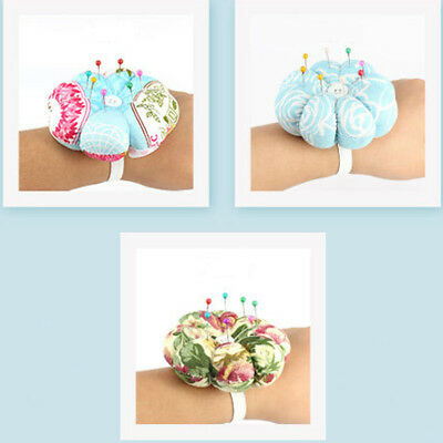 Pumpkin Needle Pin Cushion With Elastic Wrist Belt DIY Handcraft Cross Stitch