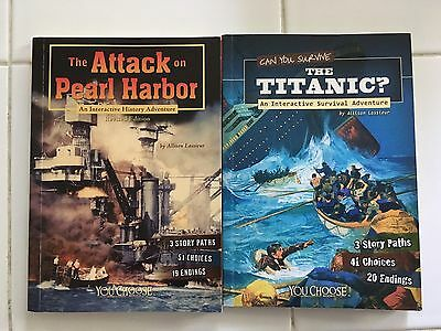 """Titanic"" & ""Pearl Harbor"" CHOOSE YOUR PATH Interactive Paperback Books"