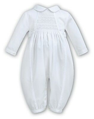SARAH LOUISE Baby Boy White Christening Romper BNWT Assorted Sizes - Sale!!