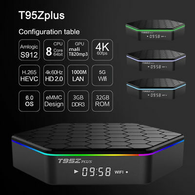 Android 6.0 TV Box T95Z Plus S912 2GB+16GB Octa Core KD 17.3 2.4/5Ghz Dual