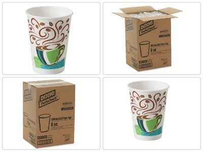 5338CD 8oz Insulated Paper Hot Cups, Disposable Coffee Cups Dixie PerfecTouch