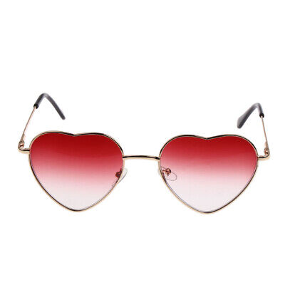d3ee254428de Women Retro Metal Frame Love Heart Shaped Sunglasses Party Eyewear Eyeglass