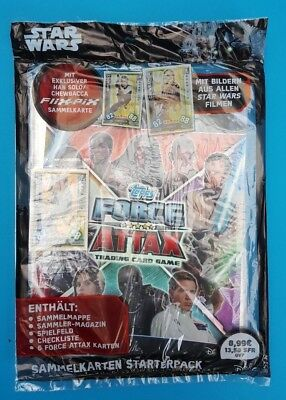 Topps Force Attax Trading Card Game Starterpack Star Wars   ungeöffnet abs. TOP