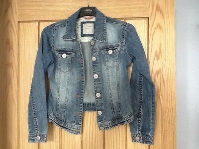 NEXT Girls Dark Blue Denim Jacket Age 11 - 12 Years