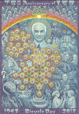 """Alex Grey """"New Eleusis"""" 75th Anniversary Blotter Art - Signed and Numbered"""
